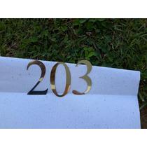 Numero Aço Inox 304 Espelhado Polido Apartamento Porta 7cm