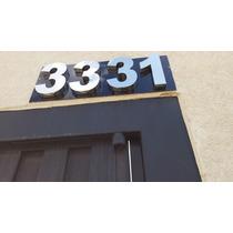 Números Residenciais Aço Inox Brihante 20cm