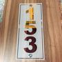 Número Residencial Em Espelho Jateado Modelo 05