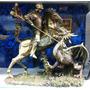 Miniatura Resina Estátua / Estatua Santo São Jorge Metal