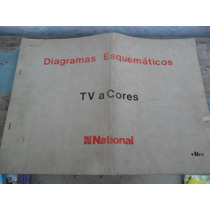 Livro Diagramas Esquemáticos Tv A Cores National