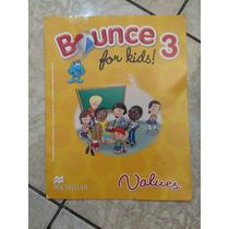 Livro Bounce For Kids 3 Values 2011 Só Exercícios