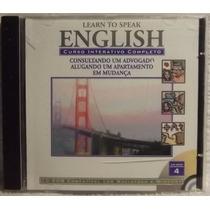 Cd / Cd-rom Curso: Learn To Speak English 4 - Frete Grátis