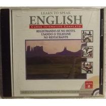 Cd / Cd-rom Curso: Learn To Speak English 2 - Frete Grátis