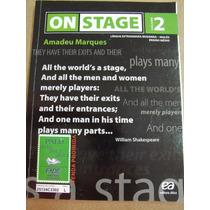 Inglês On Stage Volume 2 Amadeu Marques Com Cd Ótimo Estado