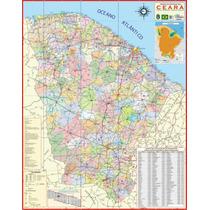 Mapa Geo Político Rodoviário Do Estado Do Ceará 1,20 X 0,90m