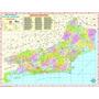Mapa Do Estado Do Rio De Janeiro --- Político - 117 X 89 Cm