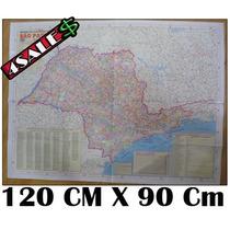 Mapa Do Estado De São Paulo 2014 - 120cm X 90cm + Nfe!