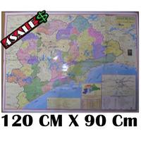 Mapa Grande São Paulo E Baixada Santista 120cm X 90cm + Nfe!