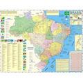 Mapa Do Brasil Político E Rodoviário Gigante - 0,90 X 1,20m