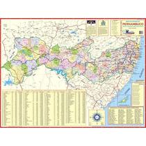 Mapa Geo Político Rodoviário Gigante Do Estado De Pernambuco