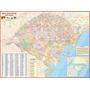 Estado Do Rio Grande Do Sul - Mapa Geo Político E Rodoviário