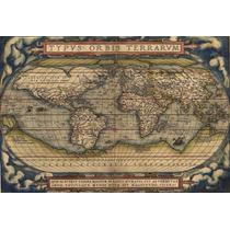 Mapa Mundi Antigo Do Mundo De Parede Decorar Parede Vintage