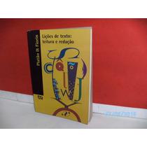 Livro Lições De Texto: Leitura E Redação Platão/ Fiorin 3ªed