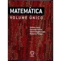 Enem Matemática Vol.único Gelson Iezzi Degenszajn Ed. Atual