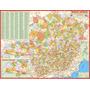 Mapa Geo Político Rodoviário Gigante Estado De Minas Gerais