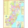 Mapa Do Estado Do Espírito Santo --- Político 89 X 117 Cm