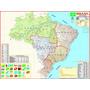 Mapa Do Brasil Regional - Gigante !!! 117 X 88 Cm
