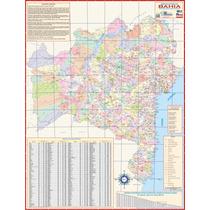 Mapa Geo Político E Rodoviário Gigante Do Estado Da Bahia