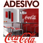 Adesivo Parede Ou Geladeira Coca Cola Logo Decorativo Grande