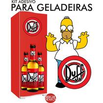 Kit Adesivo Envelopamento Skin Geladeira Cerveja Duff Homer