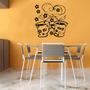Adesivo Decorativo Parede Cozinha Geladeira Café Amor Flor