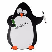 Ímã De Geladeira Pinguim Anotações Com Caneta E Apagador
