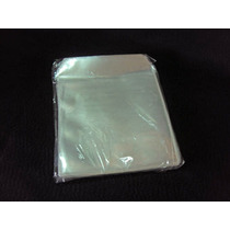 50 Capas Cd Dvd 6,3 X 6,3 Cm. Plástico C/ Aba. Frete Grátis