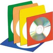 Envelope De Papel Com Visor Para Cd / Dvd 100 Unid