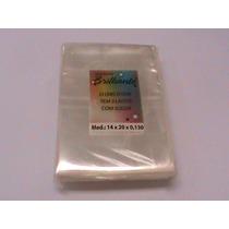 Saquinho Plástico P/ Dvd Tamanho 14x20x0,130