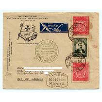 Envelope Soc. Filat. Bandeirante E Vasp 1939 C137 E 143