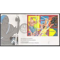 Fdc662- 1995 - 300 Anos Da Morte De Zumbi Dos Palmares.bloco