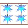 Combo 4 Sputnik Estrela 13 Pontas 80cm,dj,iluminação,barman,
