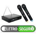 Microfone Sem Fio Skp Uhf 261 Duplo De Mao - Profissionall