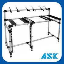 Rack Tubular Para Dj E Home Studio Metal Line Ask Mdj 150