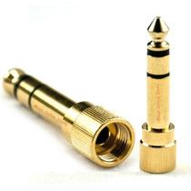 Plug Adaptador P2 / P10 Com Rosca / Sony Technics Pioneer
