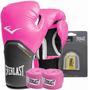 Kit De Boxe Feminino Modelo Elite 12oz Rosa Everlast