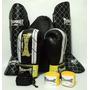 Kit Fight Muay Thai Luva + Caneleira + Atadura + Bucal