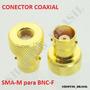 Conector Adaptador Inversor Emenda Coaxial Sma-m Bnc Fêmea