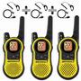 3 Radios Comunicadores Motorola Talkabout Mh230 37km C/ Fone