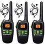 3 Radios Comunicadores Motorola Talkabout Md200 32km C/ Fone