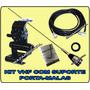 Kit Vhf Veicular: Antena Móvel + Suporte Porta-mala + Cab
