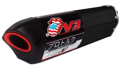 Escapamento Pro Tork V3 Preto Moto Honda Biz 125 Esportivo