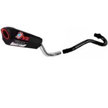 Ponteira Escape V3 Pro Tork Preto+ Curva Para Honda Xr 200