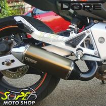 Escape / Ponteira Alumínio Modelo Dore - Ninja 250 R Bronze
