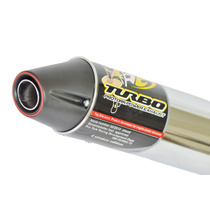 Escapamento Turbo Protork Ybr Factor 125 Ñ Estralador Gemoto