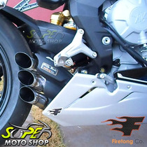 Escape Ponteira Firetong Willy Made Em Inox - F3 - Mv Agusta