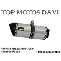 Ponteira Wr Extreme Polido 30cm Honda Cb 300