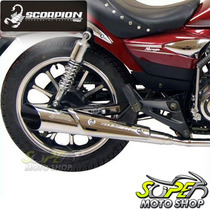 Escapamento Custom Scorpion V-rod Cromado Mirage 150 Kainski