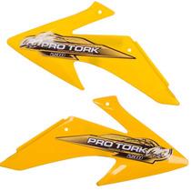 Paraletas Laterais Tanque Crf 230 Pro Tork Motocross Amarelo